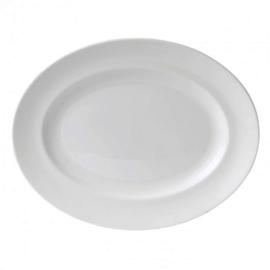 Wedgwood White China Ovale vleesschotel ± 39cm