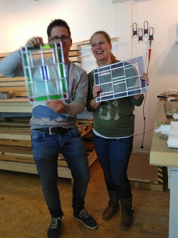 Glas In Lood Cursus.Glasstudio Indedag Workshop Glas In Lood Hobby Cursus