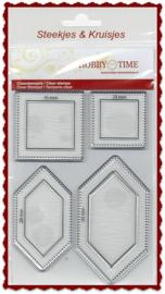 Verlengde hexagon quiltstempels