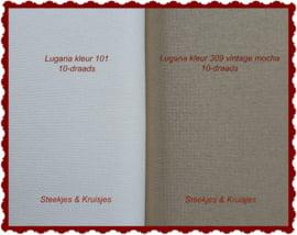 Lugana 10-draads  35 x 50 cm