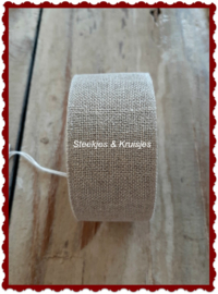 100 cm stitching band, wide 30 mm, natural color