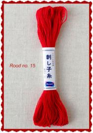 Olympus Sashiko garen rood no. 15