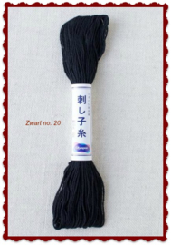Olympus Sashiko garen zwart no. 20