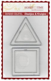 Quiltstempel vierkant en driehoek CRP0030