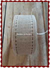 100 cm stitching band, wide 50 mm, natural with open edge