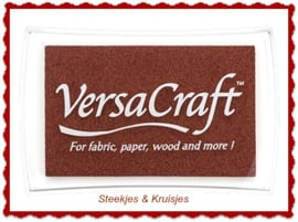 "Versacraft stempelkussen "" Chocolate"""