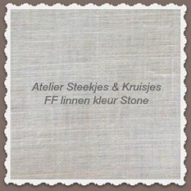Linnen 16-draads Fabric Flair kleur Stone 45x50 cm
