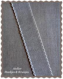 Borduurband Aida linnen-katoen 30 mm kleur natuur