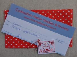 Cadeaubon van Atelier Steekjes & Kruisjes