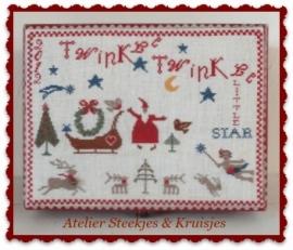 """S&K Borduurpatroon merklap """"Twinkle Twinkle"""""""