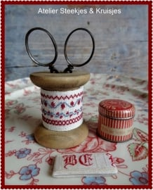 """Pakketje Houten klos """"Vintage"""" 5 cm hoog"""
