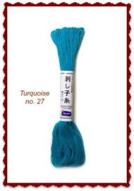 Olympus Sashiko garen turquoise no. 27