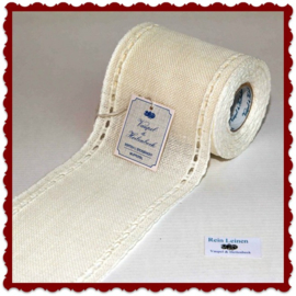 100 cm stitching band, wide 100 mm in antique white with open border