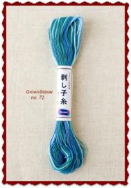 Olympus Sashiko garen blauw/groen no. 72