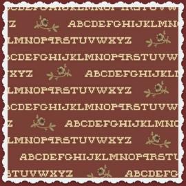 Pauline alfabet rood van Atelier Perdu