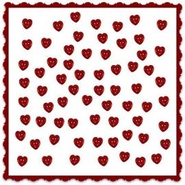 Rode kleine hartjes / Button Fun 1863