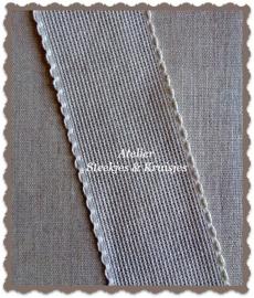 Borduurband Aida linnen-katoen 50 mm kleur natuur