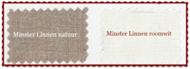 Coupon Minsterlinnen natuur 30 x 45 cm
