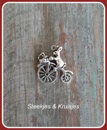 Bedel haas op fiets