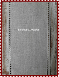 200 cm stitching band, wide 170 mm in natural  with open border