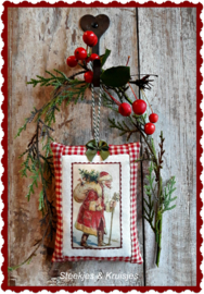Textieltransfer  Noorse Kerstman  ± 6 x 8 cm