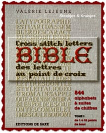 Bible des lettres au point de croix