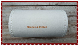 200 cm stitching band, wide 170 mm in antique white  with open border