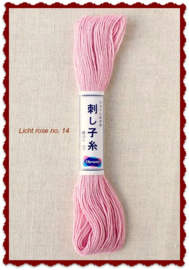 Olympus Sashiko garen licht rose no. 14