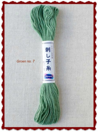 Olympus Sashiko garen groen no. 7