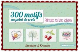 300 Motifs au point de Croix Home Animaux, nature, saisons