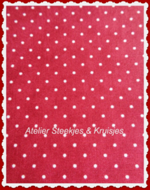 Moda Essential Dots rood met witte stip