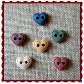 Mini Stitched Hearts
