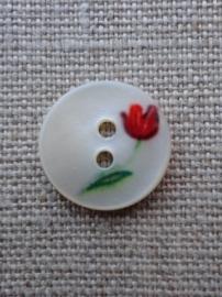 Knoopje parelmoer met tulpje