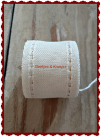 100 cm stitching band, wide 50 mm, antique white open edge
