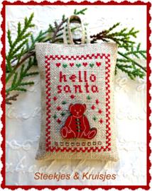"""S & K """"Hello Santa"""" borduurpakketje"""