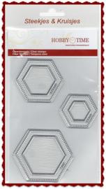Hexagon quiltstempels