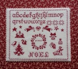 """S&K """"Christmas Sampler"""" borduurpatroon"""