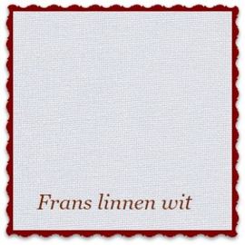 Frans borduurlinnen 22-draads 25 x 38 cm wit