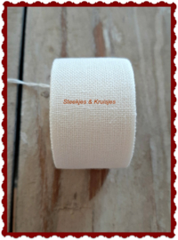 100 cm stitching band, wide 30 mm, antique white