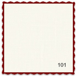 Coupon 11-draads Cashell 35 x 36 cm kleur 101 roomwit