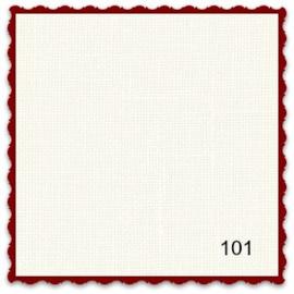 Linnen 12.6 draads Belfast coupon van 42 x 70 cm kleur 101 roomwit