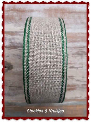 75 cm banding wide 50 mm double green border,  Sew Advent SAL iStitch 2021