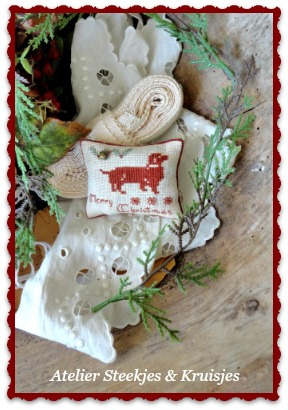 "S&K  ""Merry Christmas Teckel""  patroon of pakketje"