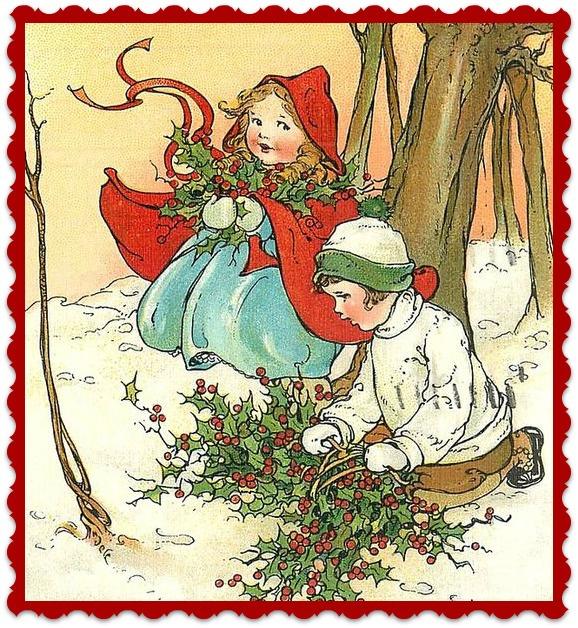 """Textieltransfer """"Meisje met rode Cape"""" 9 x 9.5 cm"""