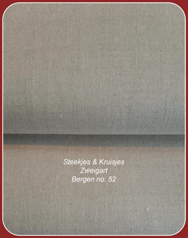Linnen 18-draads Bergen  38 x 45 cm licht natuur no. 52