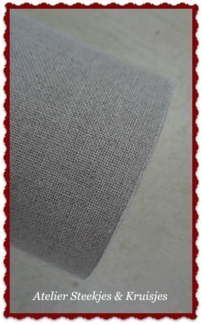 Vaupel 14-draads linnen band 160 mm natuur