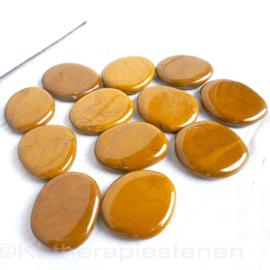 Jaspis, Geel (Oker), platte edelsteen per st.*
