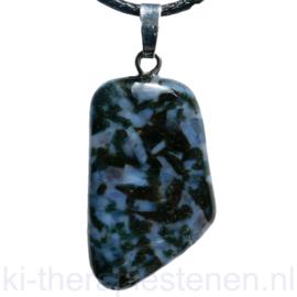 Gabbro Blackstone edelsteen hanger p.st.