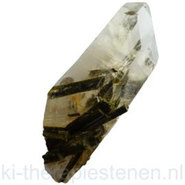 Epidoot kristallen in Kwarts kristal 1x Uniek ex.
