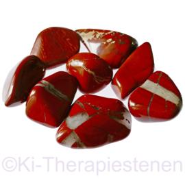 Jaspis: Rode jaspis  trommelsteen (XL) per st.